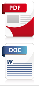 on this image there are 2 icons that represent digital files that contain the document that will get printed.