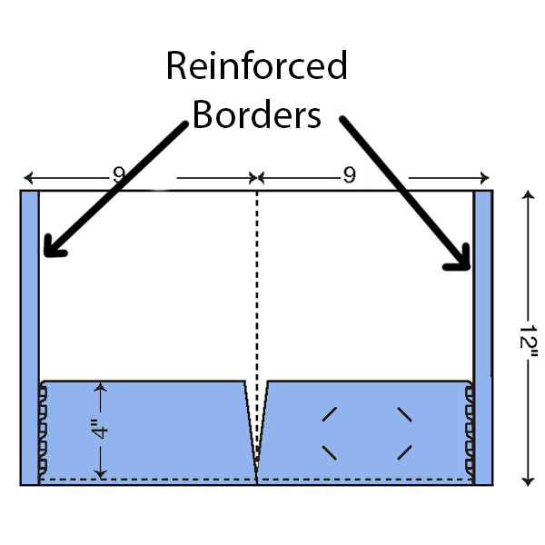 Reinforced borders in presentation folders example