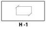 Horizontal slit - 3.5 x 2 - on left pocket