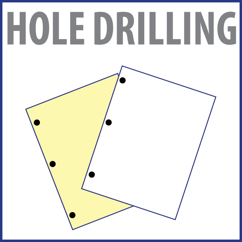 Drill Holes Only