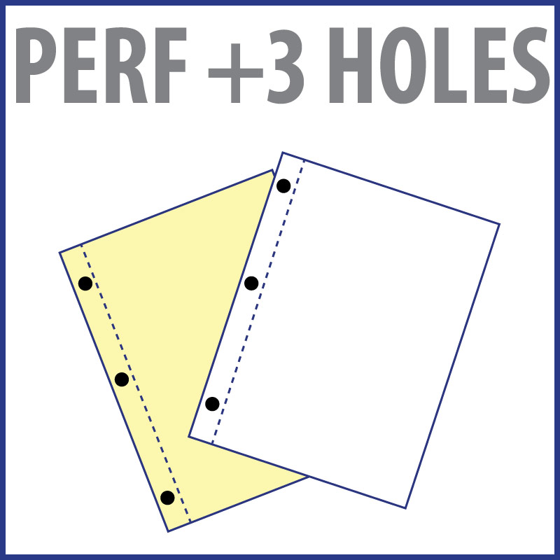 Perforation + 3 Holes