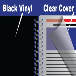 Clear Plastic + Black Back Plastic