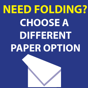 Choose other paper for folding