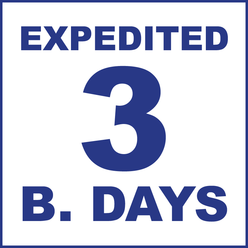 Expedited (3 Business days)