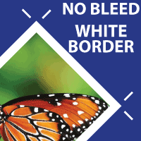 No bleed - White Border
