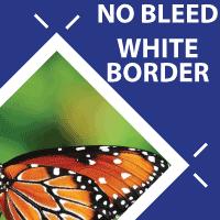 No Bleed: White Border